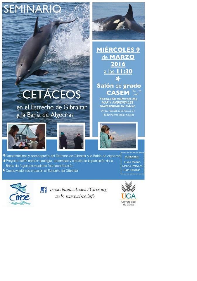 Seminario sobre CETACEOS en el Estrecho de Gibraltar y la Bahia de Algeciras