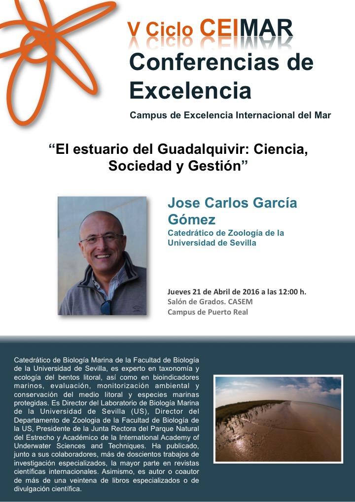 Conferencia de Excelencia 'El estuario del Guadalquivir: Ciencia,Sociedad y Gestion'