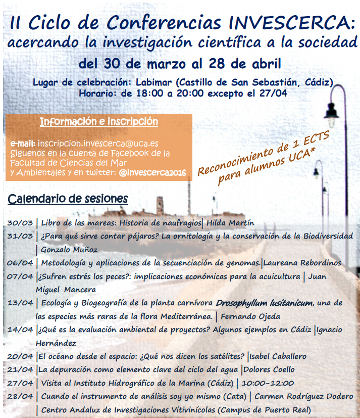 II Ciclo de Conferencias INVESCERCA: acercando la investigacion cientifica a la sociedad