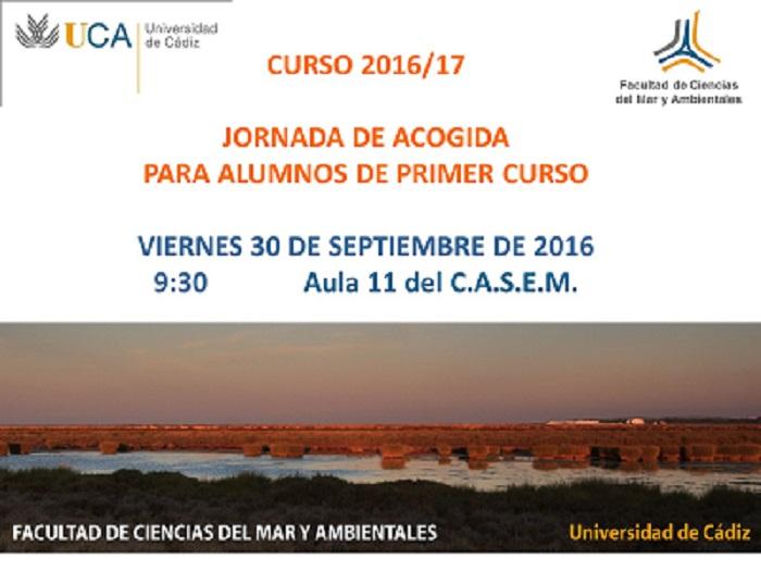INICIO DEL CURSO 2016-17 Y JORNADA DE ACOGIDA