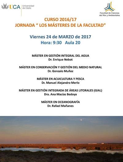 """JORNADA """"LOS MASTERES DE LA FACULTAD"""""""