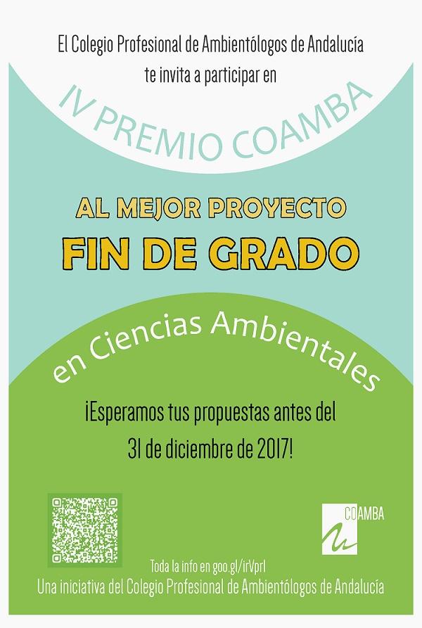 IV Edición de los Premios al Mejor Proyecto Fin de Grado en Ciencias Ambientales