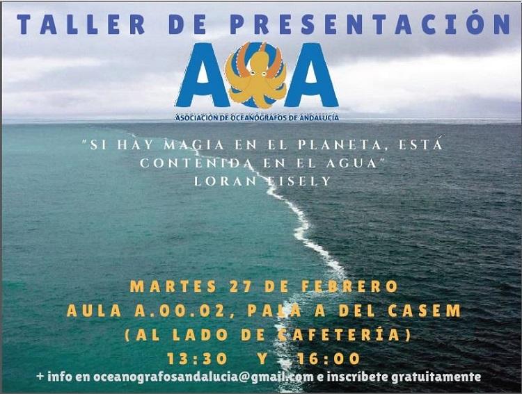 PRESENTACIÓN DE LA ASOCIACIÓN DE OCEANÓGRAFOS DE ANDALUCÍA