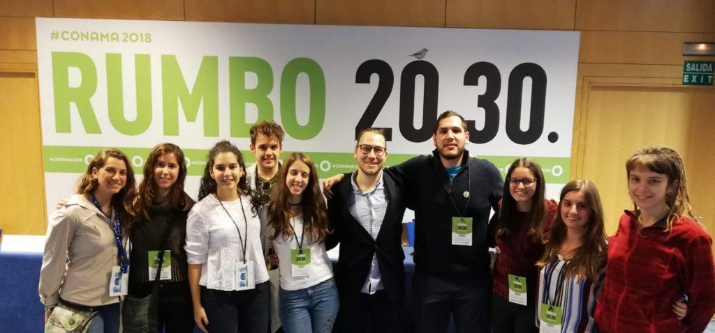Alumnos de CC Ambientales y CC del Mar en Madrid en el Congreso Nacional de Medio Ambiente (CONAMA), del 26-29 de noviembre 2018