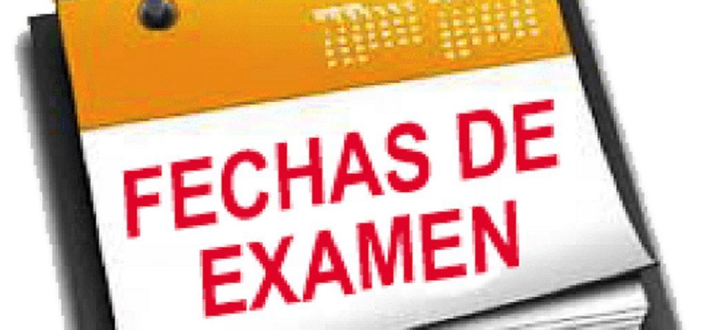 CALENDARIO EXÁMENES CONVOCATORIA DE DICIEMBRE 2019