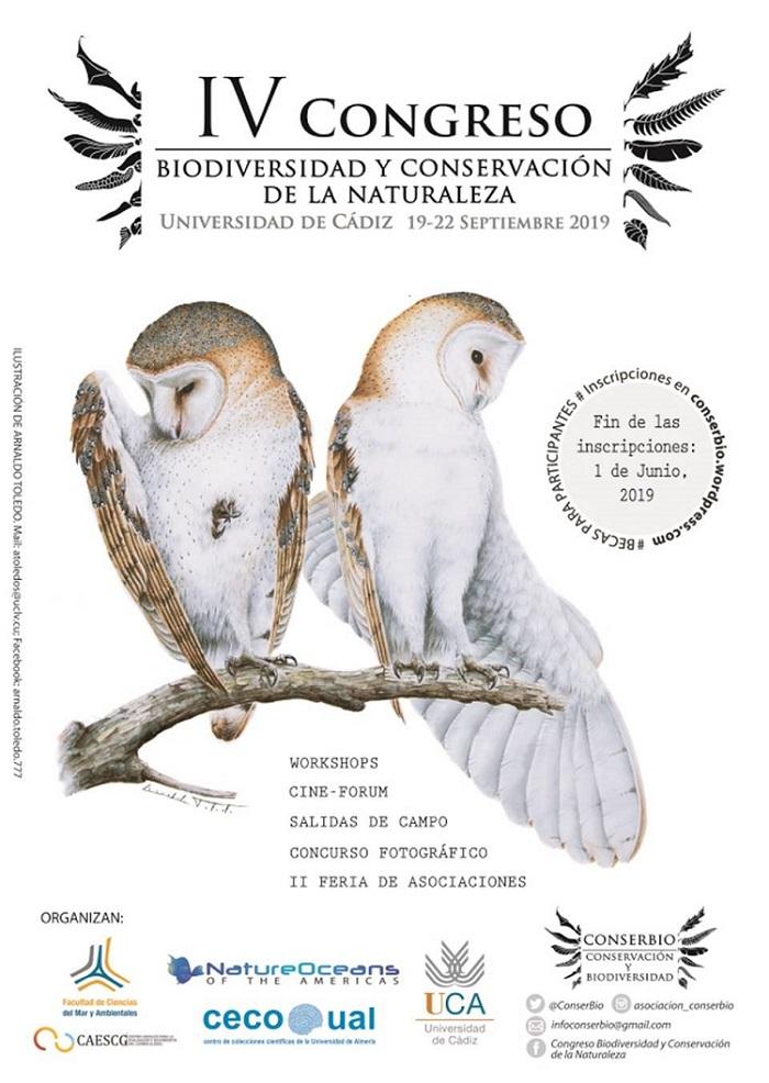 IV Congreso de Biodiversidad y Conservación de la Naturaleza CONSERBIO: del 19 al 22 de septiembre en la Facultad de Ciencias del Mar y Ambientales.