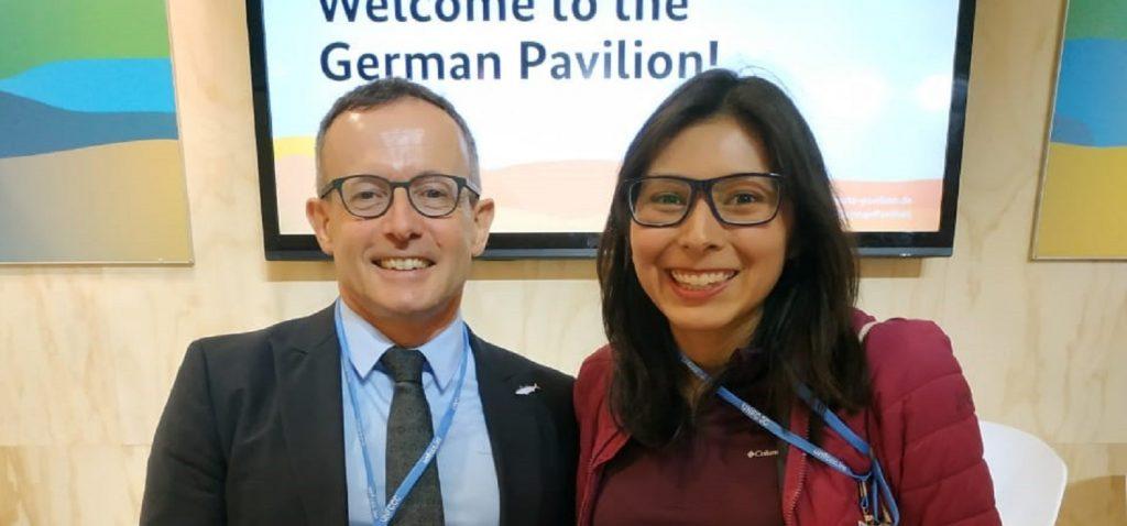 Nuestra alumna Elda Jimena Silva, del Máster en Gestión Integral del Agua, en la Cumbre Mundial del Clima (COP25)