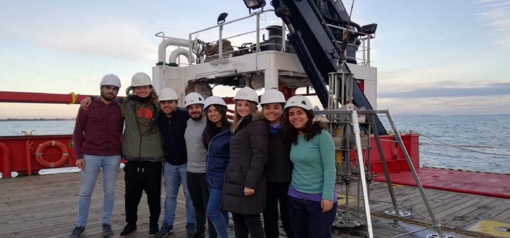 Alumnos del Máster en Oceanografía de campaña en el Buque Oceanográfico Sarmiento de Gamboa